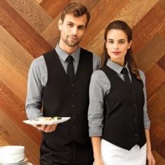 Premier PR622 Mens Lined Polyester Black Waistcoat - Size Medium