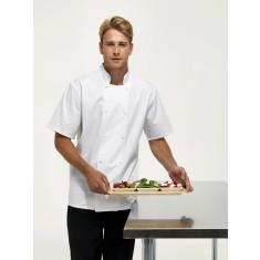 Premier PR664 Studded Front Short Sleeve Chef's Jacket