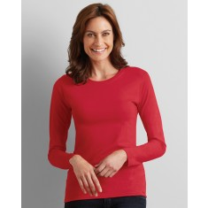 Gildan 64400L Ladies' Soft Style Long Sleeve T-Shirt