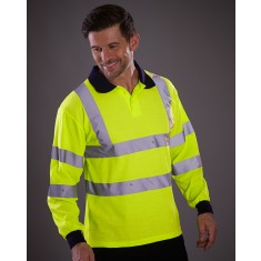 Yoko HVJ310 High Visibility Long Sleeve Polo