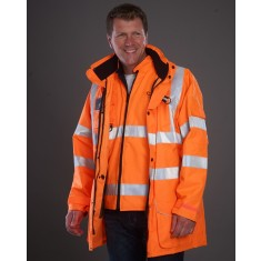 Yoko HVP711 Multi-Function 7-In-1 High Visibility Jacket - Size Medium