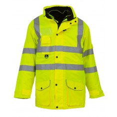 Yoko HVP711 Multi-Function 7-In-1 High Visibility Jacket - Size Small