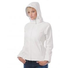 B & C  JW937  Women's Hooded Softshell