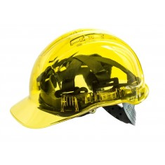 Portwest PV50 Peak View Vented Helmet - Translucent Yellow