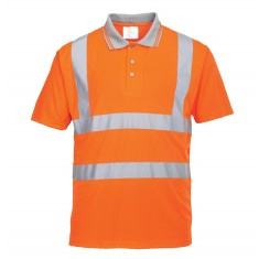 Portwest RT22 High Visibility Short Sleeve Polo Shirt - Size Medium