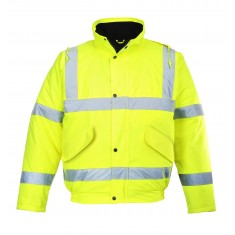 Portwest S463 Hi Vis Bomber Jacket - Size Medium