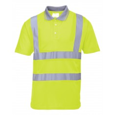 Portwest S477 Hi-Vis Short Sleeved Polo Shirt - Size Large