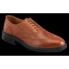 PSF S76SM Brown S1P Safety Executive Brogue with Steel Midsole
