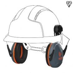 JSP Sonis® AEB030-0CY-000 Compact Helmet Mounted Ear Defenders SNR 31