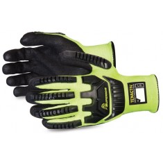 Superiorglove SUSTAGYPNVB Tenactiv Anti Impact Hi Vis Black Widow Glove