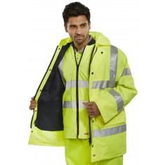 Beeswift TJFS 4 in 1 Hivis Traffic Jacket & Bodywarmer - Size Medium