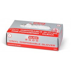 Beeswift Vinyl Disposable Pre Powdered Gloves (Size Medium)