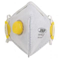 JSP BEB150-101-000 Fold Flat Disposable Vertical Mask FFP2 - 223 Odour Valved (Pack of 10)