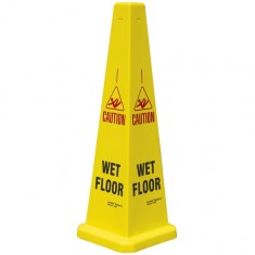 JSP JCP121-200-200 Collector 90cm/35' 'Wet Floor' Yellow Cone (Pack of 5)