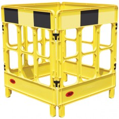JSP KBC028-000-200 4-Gate Workgate Yellow c/w Black Panel