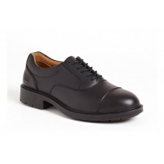 Sterling City Knights SS501CM Black Leather Oxford S1 Executive Safety Shoe
